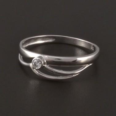 Jednoduchý prsten z lesklého bílého zlata 3820 č.1