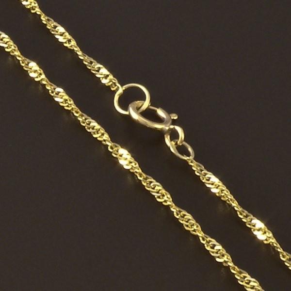 Jemný kroucený zlatý řetízek 3927 č.1 ... 71865f3eb64