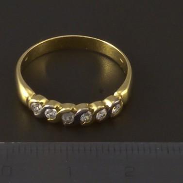 Zlatý prsten se zirkony v jedné řadě 3958 č.2