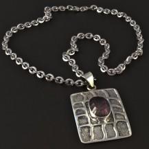 Stříbrný náhrdelník magic zirkon 4077