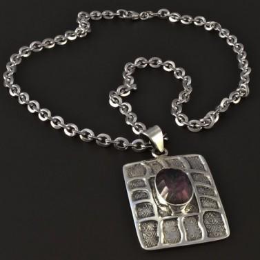 Stříbrný náhrdelník magic zirkon 4077 č.1