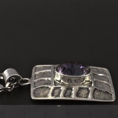 Stříbrný náhrdelník magic zirkon 4077 č.2