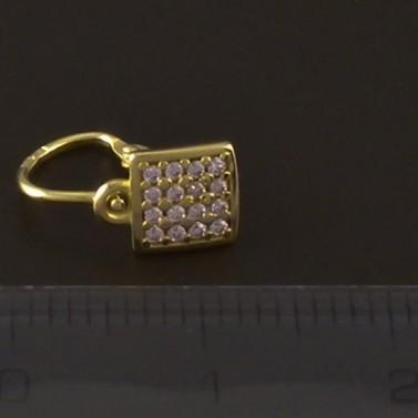 Dětské náušnice zlato čtverce 4097 č.3