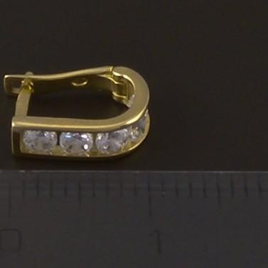 Zlaté dětské náušnice zirkon 4149 č.3