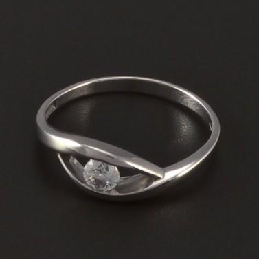 Jednoduchý prsten bílé zlato 4211 č.1
