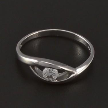 Jednoduchý prsten bílé zlato 4211 č.2