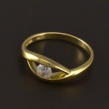 Zlatý jednoduchý prsten 4212