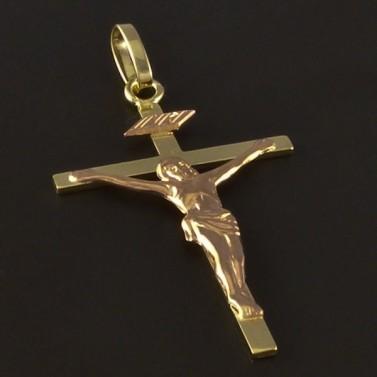 Zlatý kříž s Ježíšem 4216 č.1