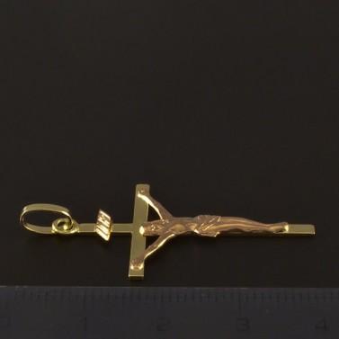 Zlatý kříž s Ježíšem 4216 č.2