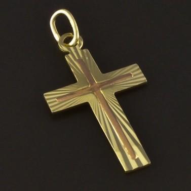 Zlatý křížek žlutočervená kombinace 4217 č.1