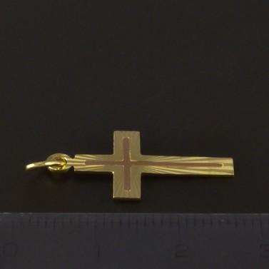 Zlatý křížek žlutočervená kombinace 4217 č.2