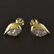 Náušnice zlato broušený zirkon 4232