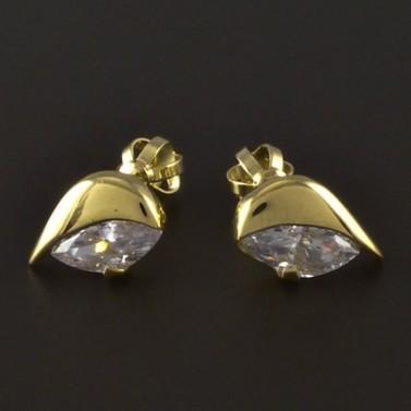 Náušnice zlato broušený zirkon 4232 č.1
