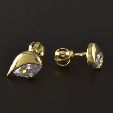 Náušnice zlato broušený zirkon 4232 č.2