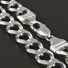 Pánský masivní pevný stříbrný řetízek 4264