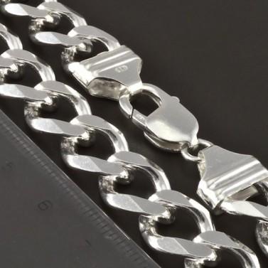 Pánský masivní pevný stříbrný řetízek 4264 č.2