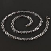 Masivní náhrdelník z bílého zlata 4312