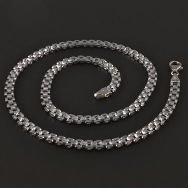 Masivní náhrdelník z bílého zlata 4312 č.1