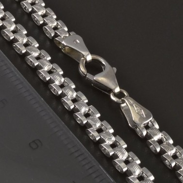 Masivní náhrdelník z bílého zlata 4312 č.3