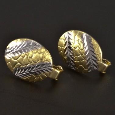 Zlaté náušnice mat a lesk 4372 č.1