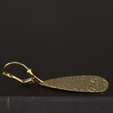 Zlaté náušnice visací tepaná úprava 4401 č.3