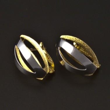 Náušnice bílé a žluté zlato 4403 č.1