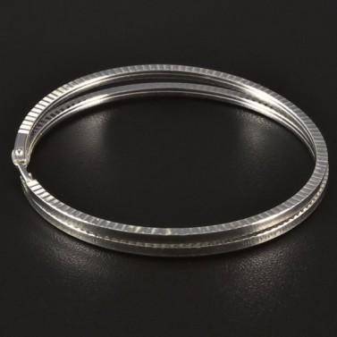 Stříbrné náušnice kruhy průměr 4416 č.1