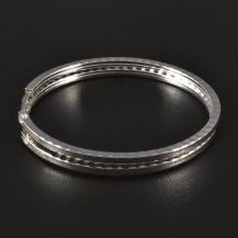 Stříbrné náušnice kruhy průměr 4417