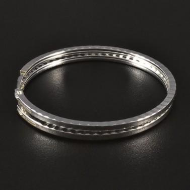Stříbrné náušnice kruhy průměr 4417 č.1