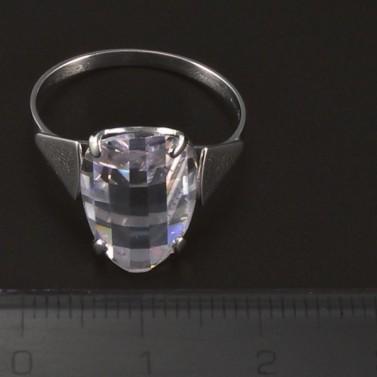 Prsten z bílého zlata broušený zirkon 4447 č.2