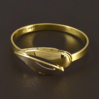 Zlatý prsten jemná ruční rytina 4496 č.1