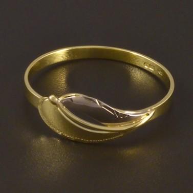 Zlatý prsten jemná ruční rytina 4496 č.2