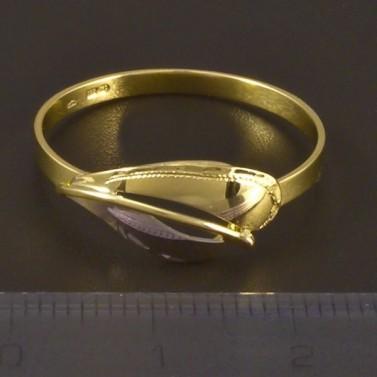 Zlatý prsten jemná ruční rytina 4496 č.3