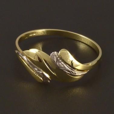 Zlatý prsten žluté a bílé zlato 4499 č.1