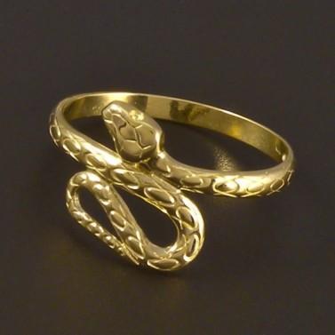 Zlatý prsten tvar had 4500 č.1