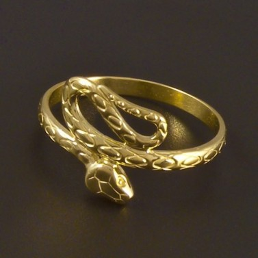 Zlatý prsten tvar had 4500 č.2