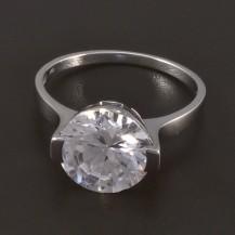 Zásnubní prsten bílé zlato broušený zirkon 4509