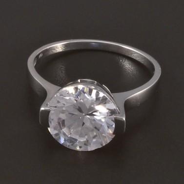 Zásnubní prsten bílé zlato broušený zirkon 4509 č.1