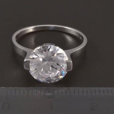 Zásnubní prsten bílé zlato broušený zirkon 4509 č.2