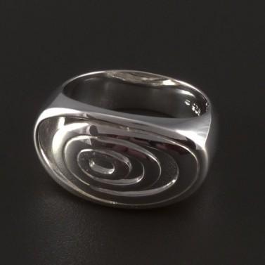 Masivní stříbrný prsten vzor spirála 4512 č.1