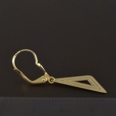 Zlaté náušnice tvar trojúhelník 4549 č.3