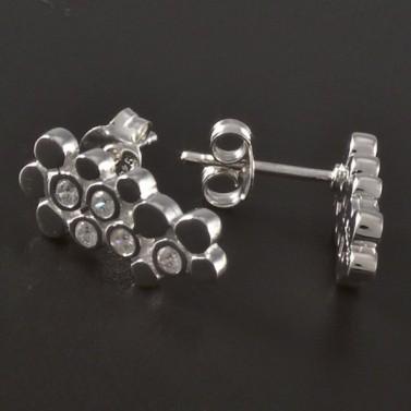 Stříbrné náušnice zdobené zirkony 4554 č.2