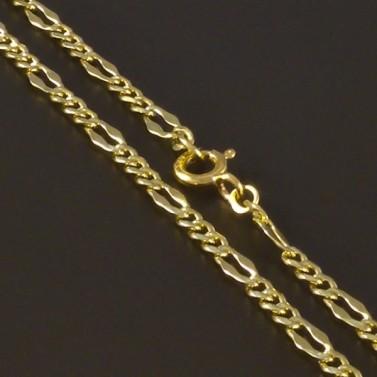 Zlatý jemný jednoduchý řetízek 4561 č.1