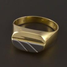 Zlatý masivní prsten pánský 4581