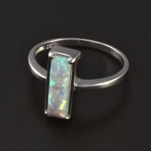Stříbrný prsten obdélníkový opál 4597