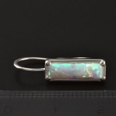 Stříbrné náušnice opál obdélníkový 4599 č.3