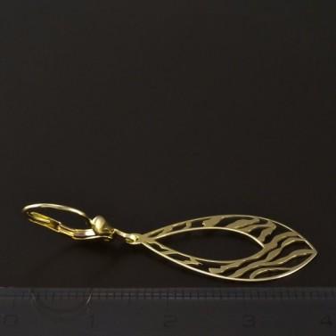 Zlaté náušnice prořezávané visací 4600 č.3