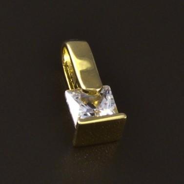 Zlatý drobný přívěsek zirkon 4648 č.1