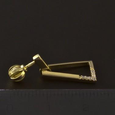 Zlaté lichoběžníkové náušnice 4676 č.2