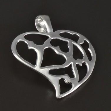 Stříbrný přívěsek tvar prořezávané srdce 4730 č.1